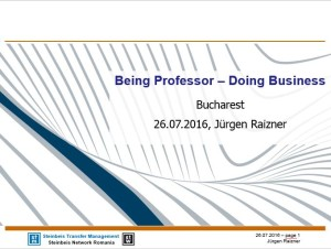 """Being Professor – Doing Business"""