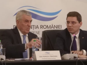 Opening session with Mr. Popescu-Tariceanu, President of Senate, and Mr. Negrescu, Minister Delegate for European Affairs